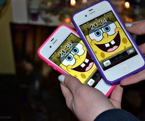 iphone, spongebob, and pink image