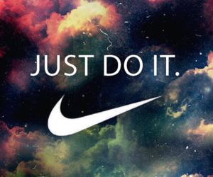 nike, Just Do It, and galaxy image