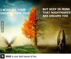 Dream, nightmare, and quote image