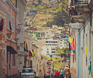 city, photography, and ecuador quito city street image