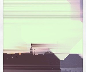 abstract, cityscape, and distorted image