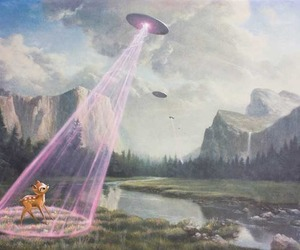 bambi, ufo, and alien image