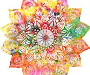 mandala, art, and flower image
