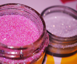 pink, glitter, and purple image
