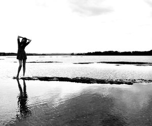 b & w, beach, and holley may image