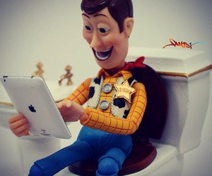 toy story, ipad, and woody image