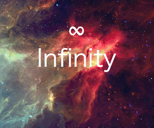 infinity, galaxy, and quote image