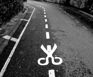 road, street, and black and white image