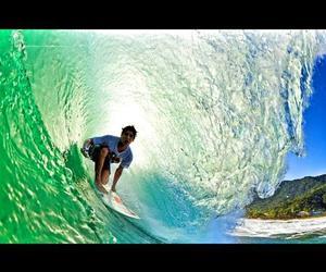 boy, sea, and surfer boy image