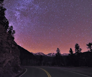 stars, sky, and road image