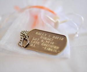 dog tags, USMC, and wedding image