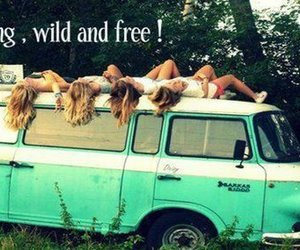 free, girl, and wild image