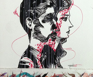 art, illustration, and couples image