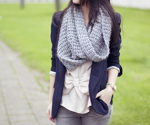 fashion, girl, and scarf image