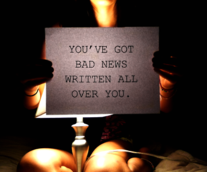 bad news and typography image