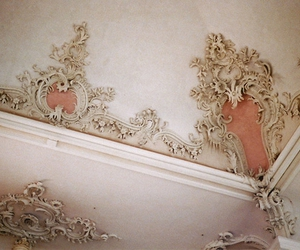 pink, ceiling, and vintage image