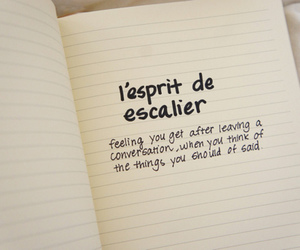 text and french image