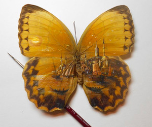 butterfly, painting, and art image