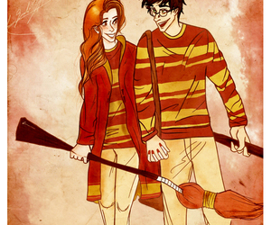 harry and ginny, harry potter, and harry potter fanart image