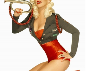 christina aguilera and Pin Up image
