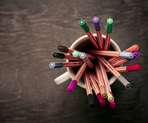 pen, colorful, and colors image