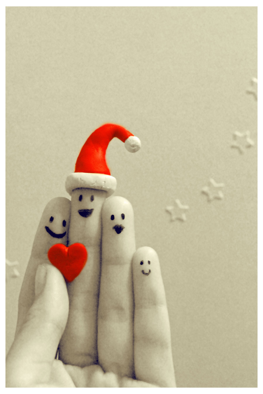 christmas, smile, and fingers image