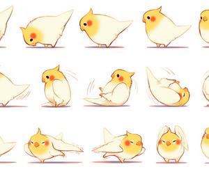 bird, cute, and anime image