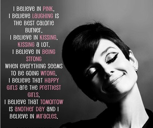 quotes, audrey hepburn, and pink image