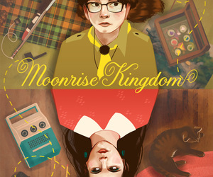 graphic design, movie poster, and wes anderson image