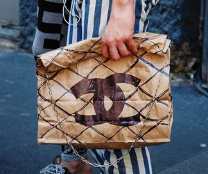 chanel and paper chain bag image