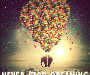 elephant, balloons, and Dream image