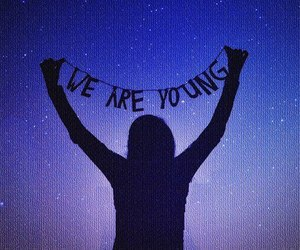 young, girl, and we are young image