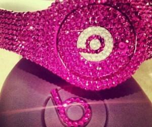 pink, beats, and diamonds image