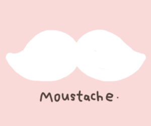 moustache, pink, and mustache image