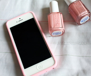 iphone, pink, and essie image