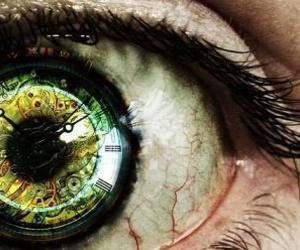 eye, clock, and time image