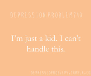 depression, girl, and text image