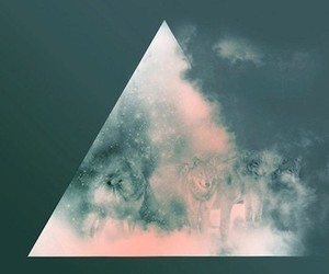 wolf, triangle, and hipster image