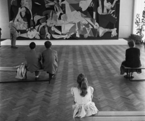 art, museum, and black and white image