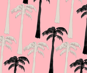 palm trees, pattern, and tree image