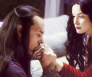 arwen, lord of the rings, and elrond image