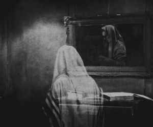 art, b&w, and ghost image