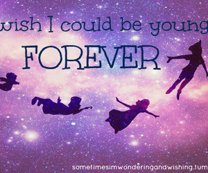 forever, I WISH, and peter pan image