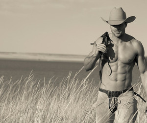 black and white, country, and cute boy image