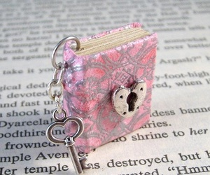 book, charm, and diary image