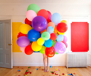 balloons, colors, and room image