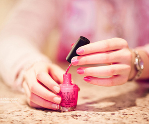 pink, nails, and opi image