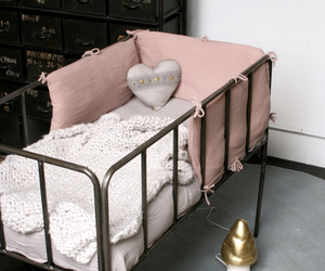 baby, bedding, and crib image