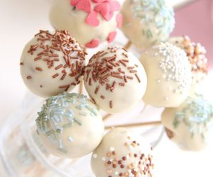 cake pops, chocolate, and eat image