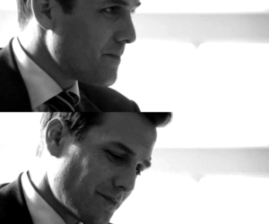 black and white, suits, and gabriel macht image